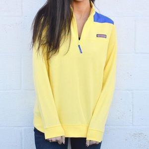 Vineyard Vines Yellow + Blue Shep Shirt Michigan